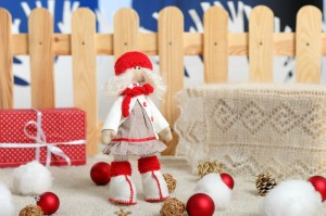 Текстильная Кукла к новому году