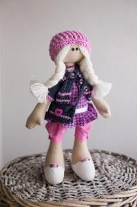 Авторская текстильная кукла-школьница