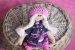 Авторская текстильная кукла-гимназистка