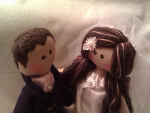 Куклы молодожены в подарок на свадьбу