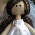 Интерьерная кукла «Невеста-черноглазка»
