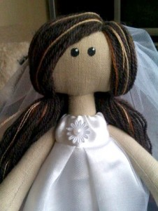 Кукла невеста, брюнетка