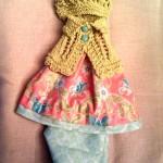 Голубые панталоны и жакетка для куклы