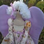 Кукла-ангел в сиреневом платье